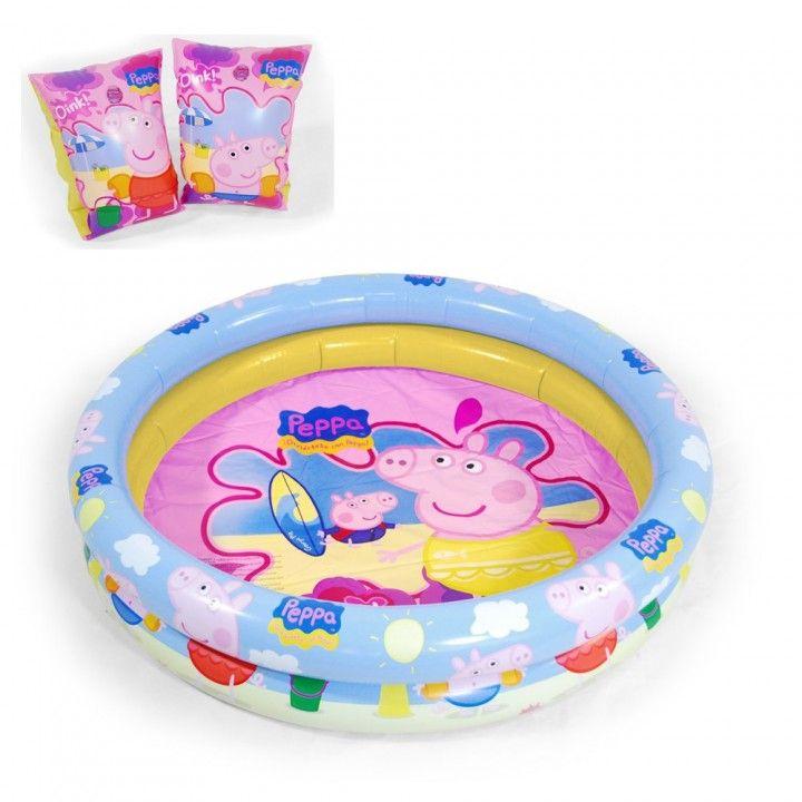 Manguitos+Piscina de Peppa Pig