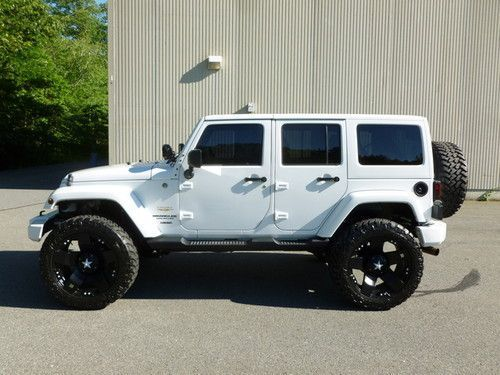 white four door jeep wrangler | 2011 Jeep Wrangler Unlimited Sahara 4-door on 2040cars #ad