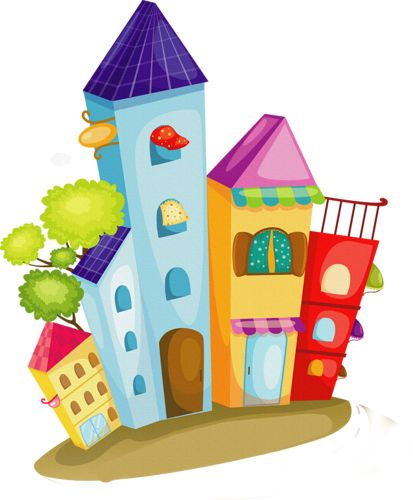 Photo About A Vector Illustration Of Colorful Cartoon Cityscape