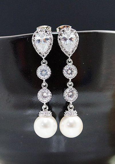 Weddings Bridesmaid Gift Bridal Jewelry Bridal by earringsnation