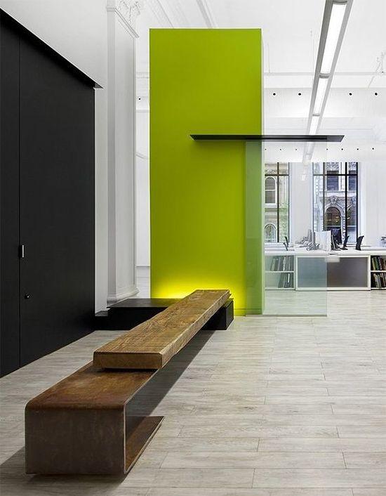 parede verde limão