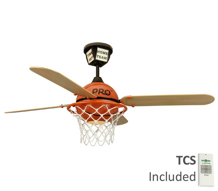 257 best fans images on pinterest craftmade ps52bb4 pro basketball flat black kids 52 ceiling fan with light remote control aloadofball Gallery