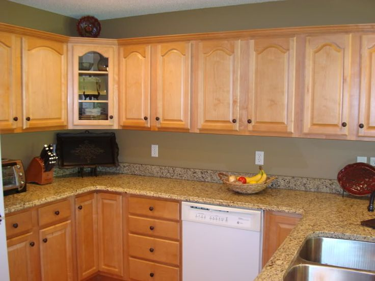37 best images about granite countertops with oak cabinets for Nice colours for kitchen walls