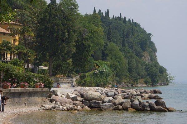 Map of #LakeGarda #Beaches - Spiaggia Dusano