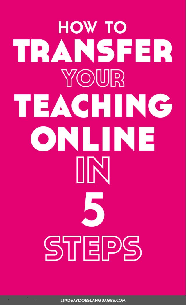 Want to know how to transfer your teaching online? These 5 steps will get you started to build and grow your online teaching business. Click to read more!