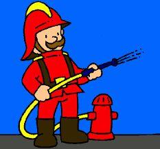 Resultado de imagen de dibujo bombero