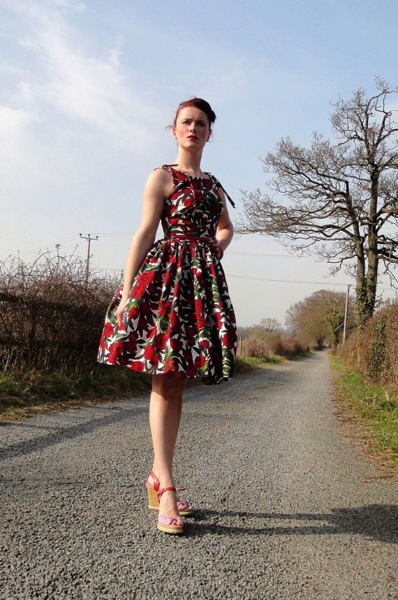 1950s inspired Betty Draper dress by butterfliesjuliebea on Etsy