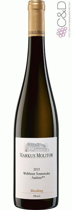 Folgen Sie diesem Link für mehr Details über den Wein: http://www.c-und-d.de/Mosel-Saar-Ruwer/Riesling-Auslese-fruchtsuess-Wehlener-Sonnenuhr-2015-Weingut-Markus-Molitor_74300.html?utm_source=74300&utm_medium=Link&utm_campaign=Pinterest&actid=453&refid=43 | #wine #whitewine #wein #weisswein #moselsaarruwer #deutschland #74300