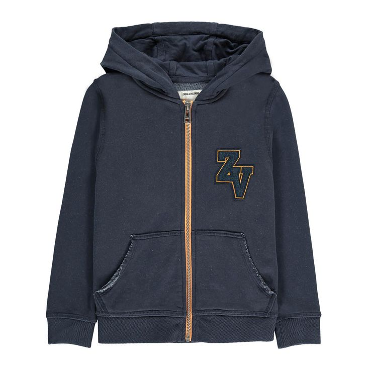 Hank Patchwork Zip-Up Hoodie Zadig & Voltaire Teen Children- A large selection of Fashion on Smallable, the Family Concept Store - More than 600 brands.