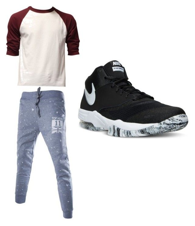 """""""Chill"""" by xxtherooxx ❤ liked on Polyvore featuring NIKE, men's fashion and menswear"""