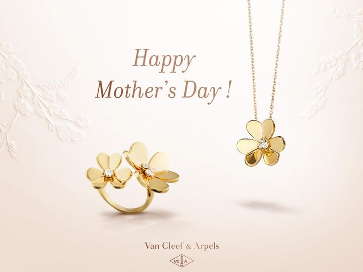 Van Cleef & Arpels wishes you a happy Mother's Day!  Adorned with yellow gold and diamonds, Frivole creations are distinguished by their heart-shaped petals.  #MotherDay