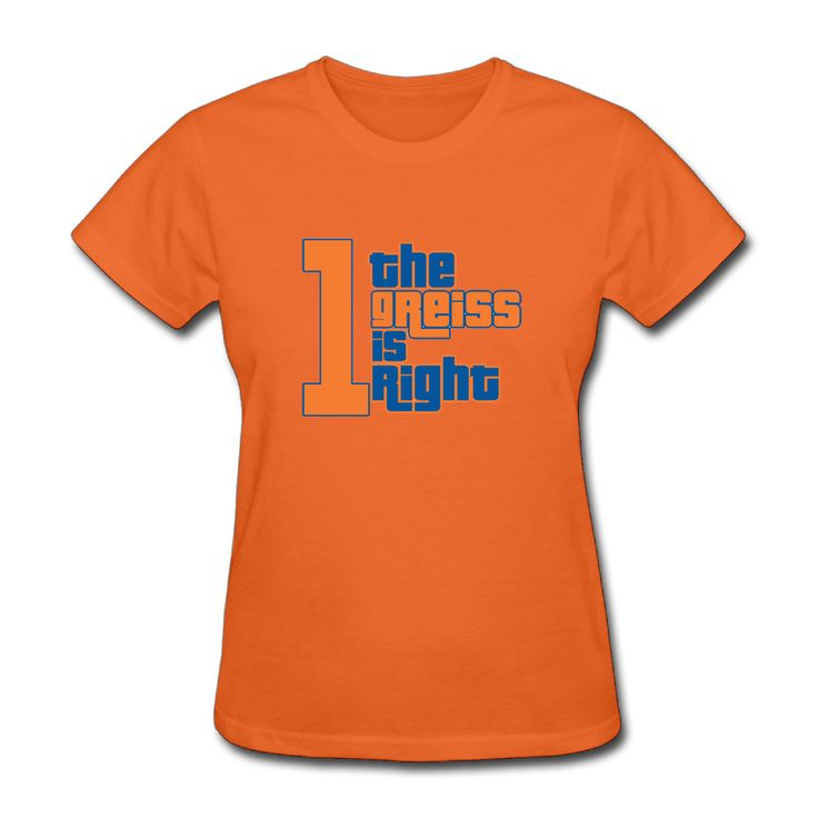 >> Click to Buy << The Greiss Is Right Custom Cotton Printed O-Neck Short Tee Shirt Orange Woman T-shirts Patchwork Camisetas #Affiliate