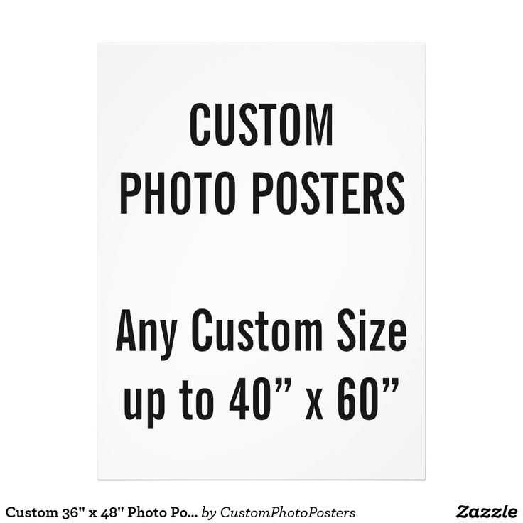 """Custom 36"""" x 48"""" Photo Poster, up to 40"""" x 60"""""""