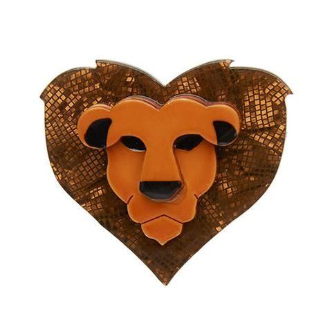 Lionheart Brooch