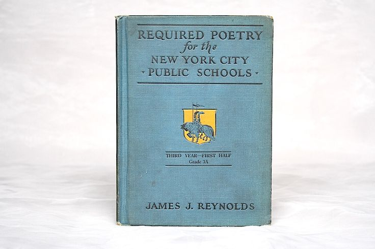 Vintage Poetry Book - Poems for Children - Poems to Memorize - New York City Public School - Poetry Anthology - Vintage School Book by HappyFortuneVintage on Etsy https://www.etsy.com/listing/281017486/vintage-poetry-book-poems-for-children