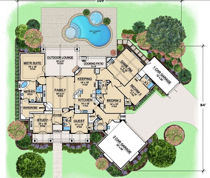 Find This Pin And More On Planos. Luxury Style House Plans ...