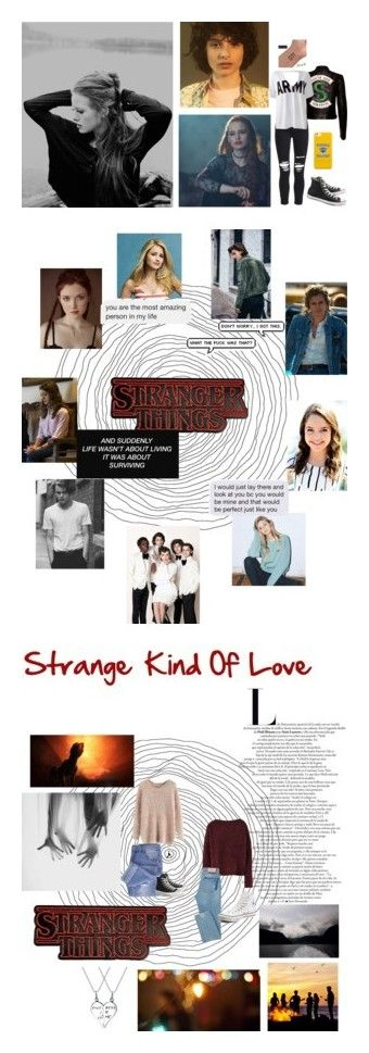 """""""Stranger things fanfic"""" by a-forever-fangirl ❤ liked on Polyvore featuring AMIRI, Sans Souci, Converse and art"""