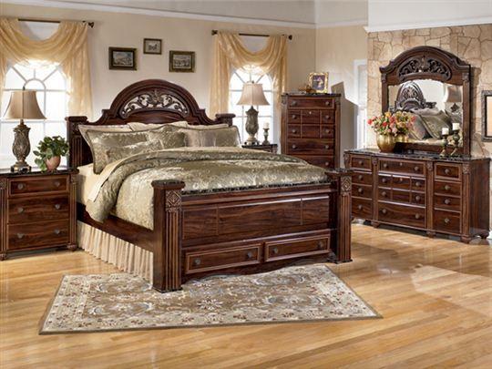 Gabriela Queen Storage Bedroom Set. Amazing detail and beautiful look. #TheFurnitureMart #Bedroom