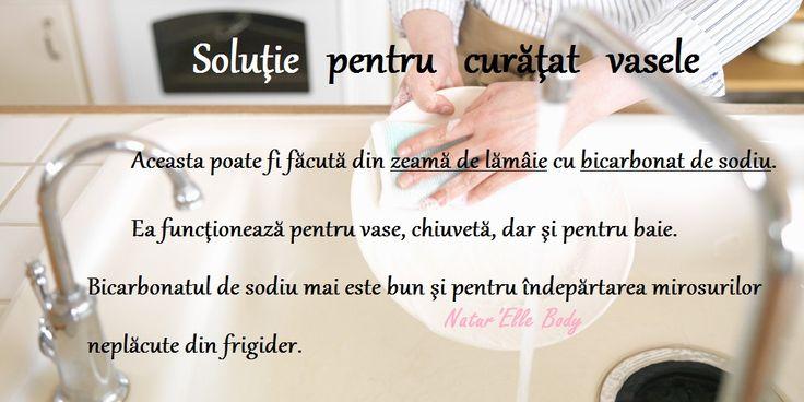 Soluţie pentru curăţat vasele http://naturellebody.com/Igiena-casei/