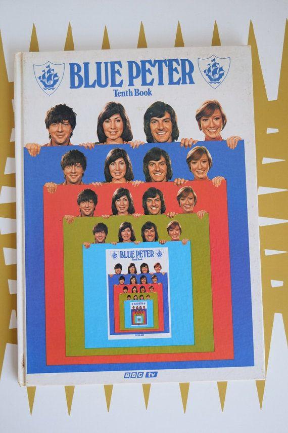 Splendid Vintage Blue Peter Tenth book  1973  Annual  Retro