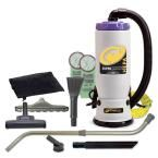 Super QuarterVac Hepa 6 qt. Backpack Vac with Residential Cleaning Service Kit, Grays