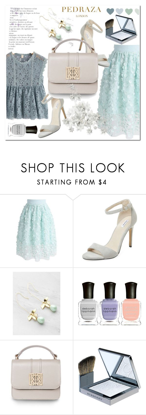 """""""PEDRAZA LONDON"""" by aidaaa1992 ❤ liked on Polyvore featuring Chicwish, Elorie, Deborah Lippmann and Burberry"""
