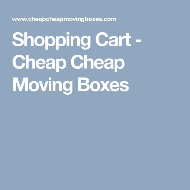 Shopping Cart - Cheap Cheap Moving Boxes