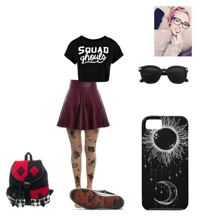 """""""Mel623184"""" by x-2manybands-x ❤ liked on Polyvore featuring DC Shoes, Boohoo, skirt, Punk, bands and story"""