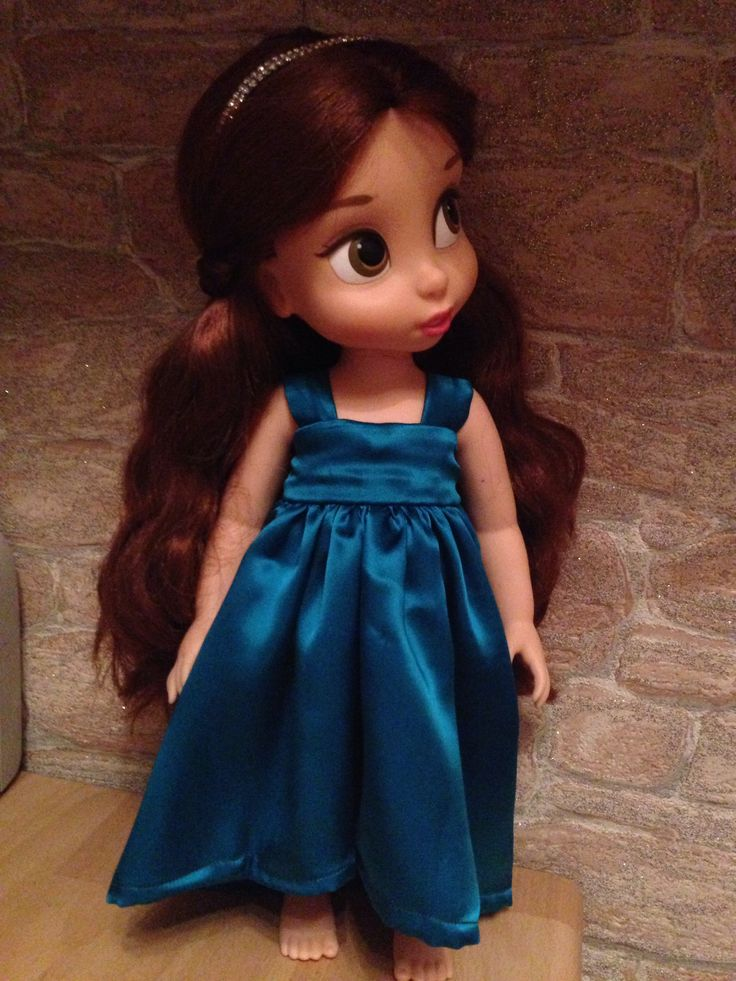 Satin  party dress for Disney Animators doll