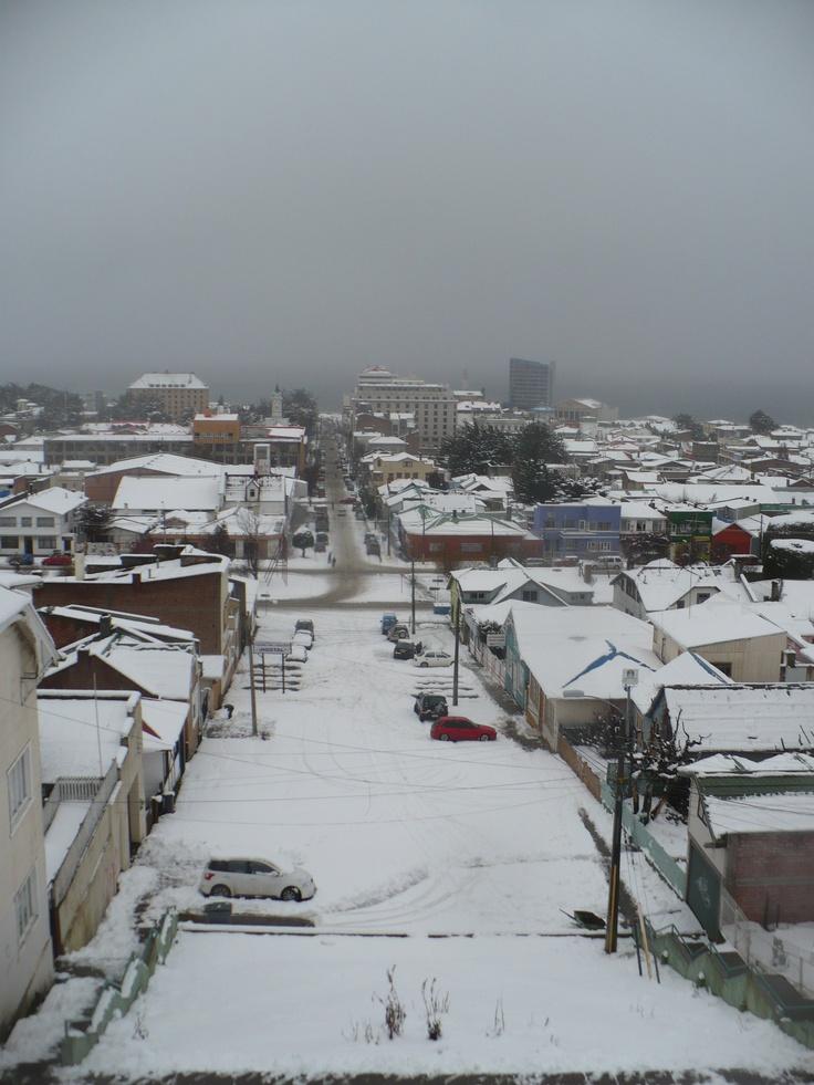 Algo de Nieve en Punta Arenas (2010)