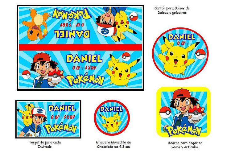 Kit Imprimible Pokemon Cotillon Imprimible - $ 30,00