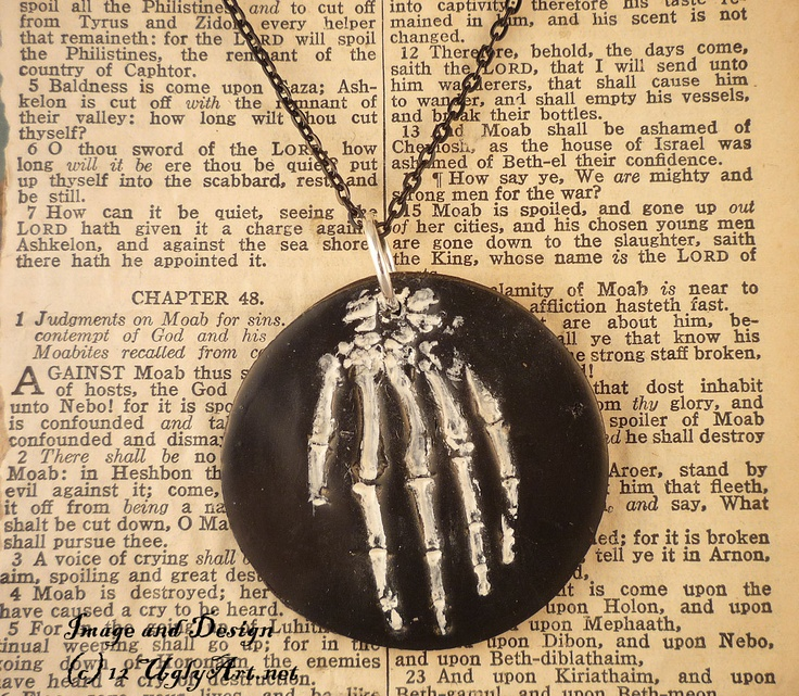 Hand OF Glory Skeleton Hand Necklace by Ugly Shyla. 30.00 fine it on my etsy here http://www.etsy.com/listing/99351589/hand-of-glory-skeleton-hand-necklace-by