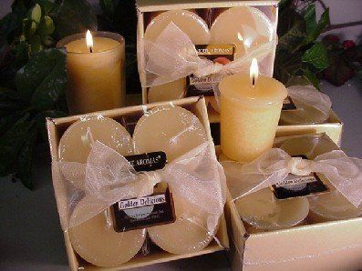 4-Pack of Round. Votives Golden Delicious Apple Scent Candle by Unique Aromas. $19.13. Golden Delicious Apple scent. Candle color may vary from photograph. Price per set candle. This set of candles is sure to bring joy and warmth to all those in the presence of them. Pack of 4 candles.Some assembly may be required. Please see product details.Some assembly may be required. Please see product details.