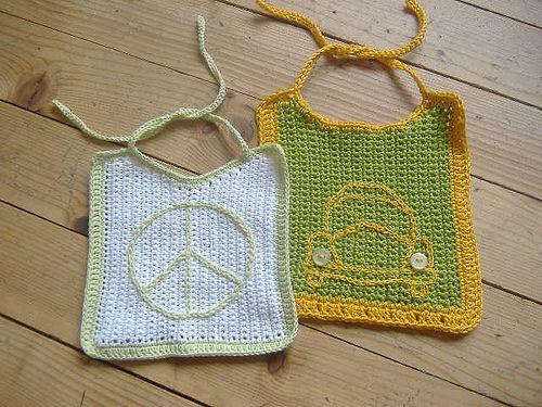 Baby Bib from Abbedidd - free #crochet baby bib patterns