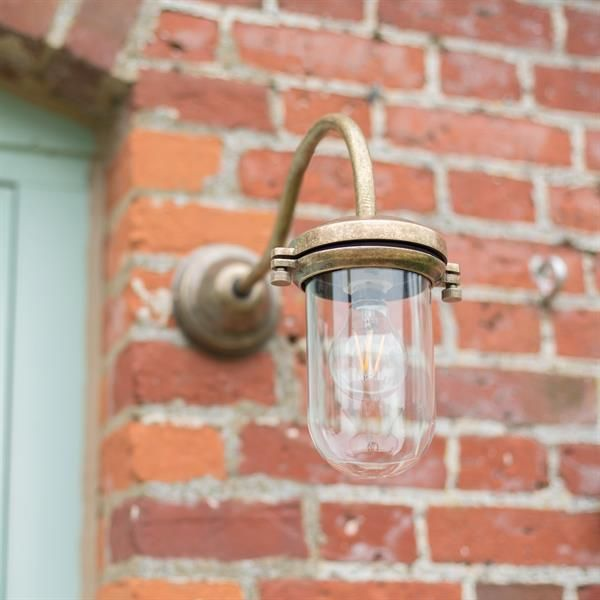 This stunning swan necked outdoor light is a real classic country lighting design - ideal  adding a touch of #country style to any home. #Stable #Light | #Traditional #Outdoor #Lighting | #Exterior #Light | #Jim #Lawrence