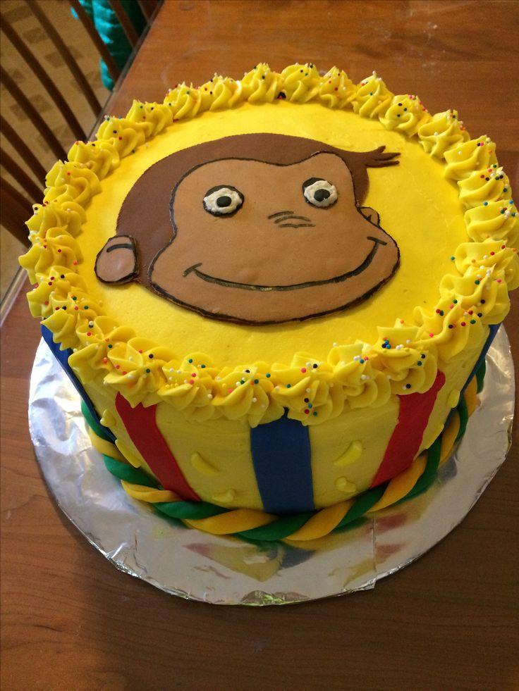 Curious George Birthday cake