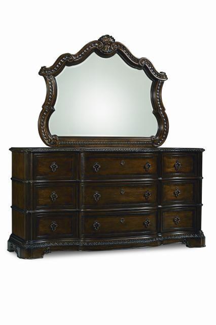 Pemberleigh Gracious Living Walnut Dresser and Mirror