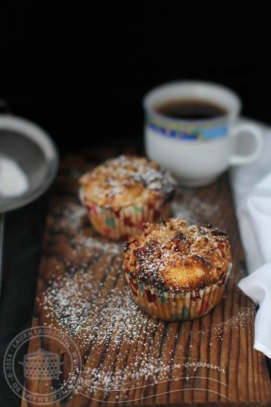 #Muffins cu #Capsuni si #Pere #Reteta