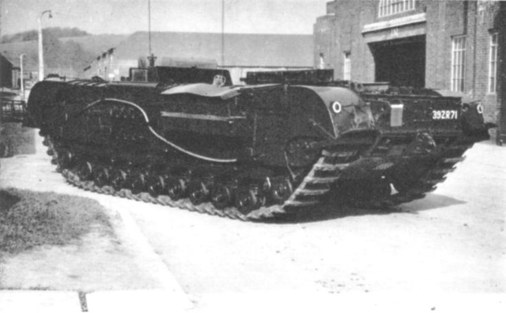Kangaroo armored personnel carrier converted from Churchill tank, circa 1944-1945