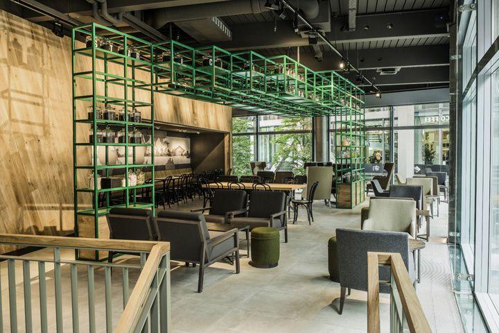 Starbucks store at Sony Center   Potsdammer Platz, Berlin