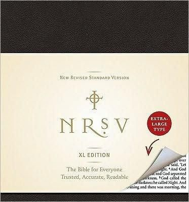 NRSV Bible XL, Black Imitation Leather
