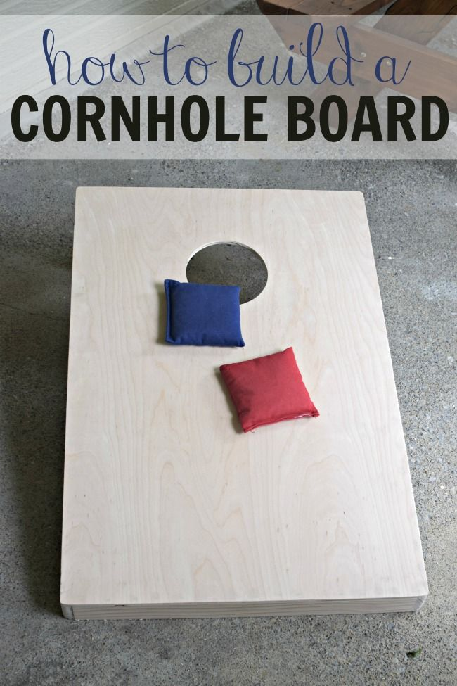 Learn how to build a cornhole board set with full instructions. This set will last you for summers to come. #RapidFuseWood #ad #woodworking