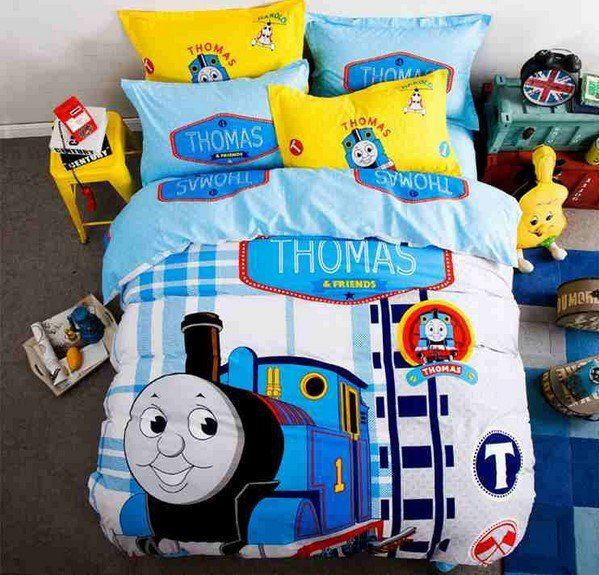Thomas Train Cartoon Duvet Cover Set Thomas & Friends Bedding. Why am I 13 and wanting this...