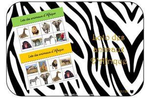 Loto des animaux d'Afrique
