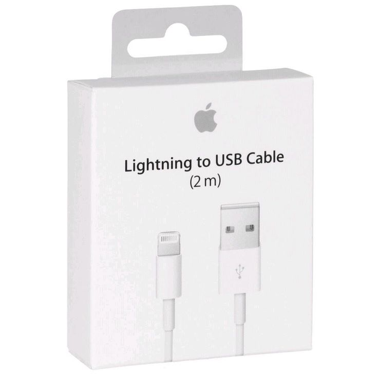 Original Oem Genuine Apple Lightning to USB Charge Cable (2M) (6 FT.) For Apple IPhone 5 /5s/5C/ 6/ 6s Cellphone