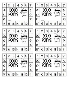 Class Dojo Points Punch Card                                                                                                                                                                                 More