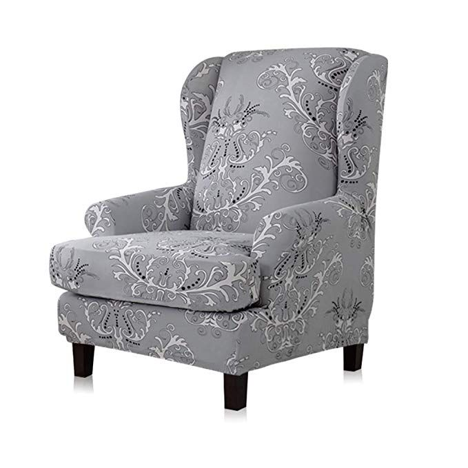 Stretch Protector Wingback Slipcover Recliner Wing Arm Chair Sofa Covers Cover