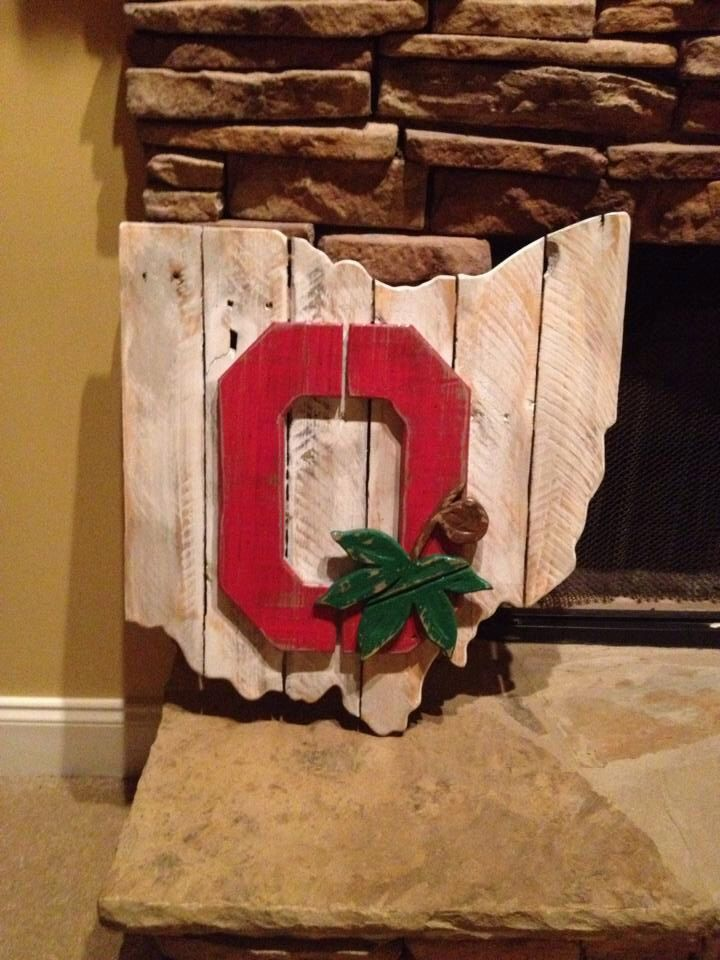 Wooden Ohio State Sign by BentwoodCustoms on Etsy https://www.etsy.com/listing/227477225/wooden-ohio-state-sign