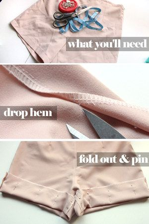 DIY scalloped shorts. I will acually try this since I've yet to find a pair of good scalloped shorts this year and spring is almost over.