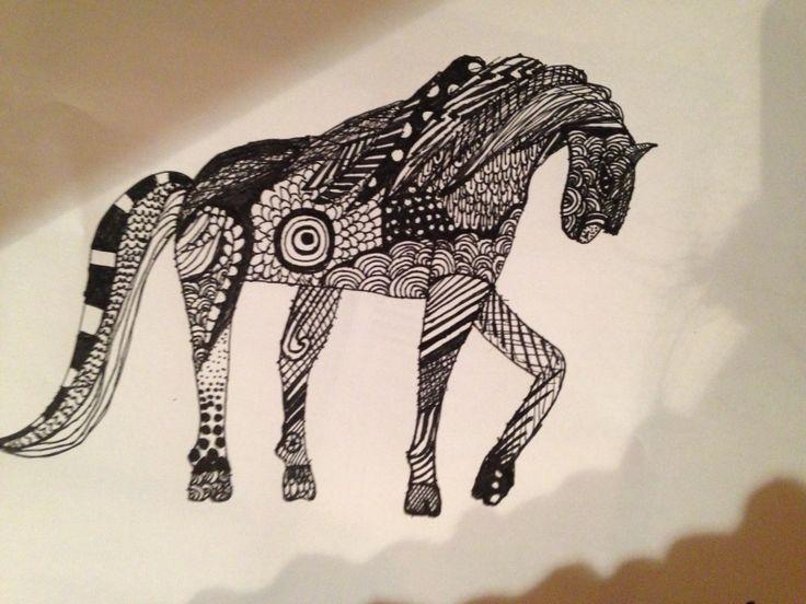 Zendoodle horse.